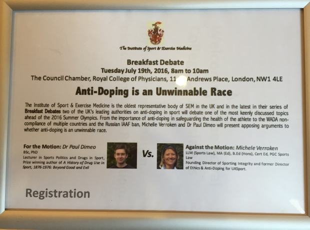 Anti-doping event
