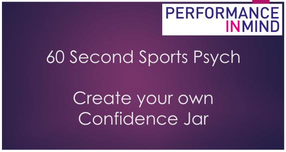 Confidence Jar title