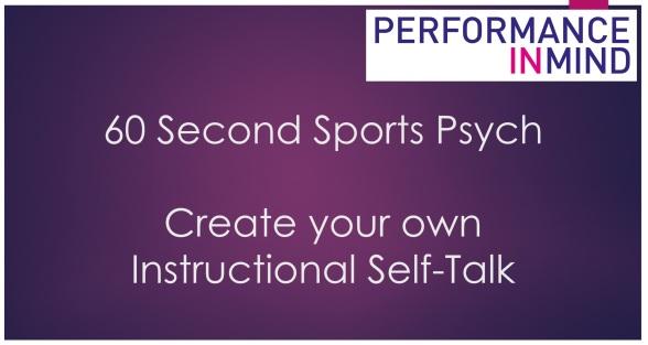 Instructional Self-Talk title