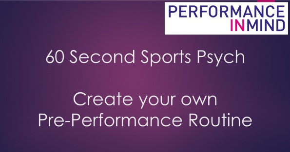 Pre-performance routine title